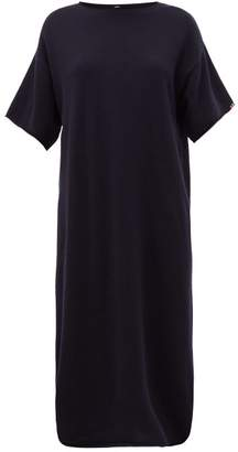 Extreme Cashmere - No.44 Teelong Cashmere Midi Dress - Womens - Navy