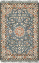 Safavieh Aspen Collection APN123 Rug, Blue/Rust, 3'x5'