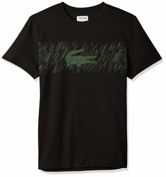 Lacoste Men's Sport Short Sleeve Brushed Croc Print Graphic T-Shirt