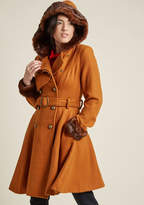 ModCloth Forecast Fab Fit and Flare Coat in 12 (UK)