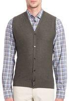 Saks Fifth Avenue Collection Merino Wool & Silk Sweater Vest