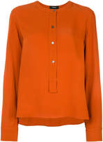 Theory button front blouse
