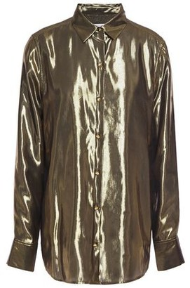 Equipment Burnel Silk-blend Lame Shirt