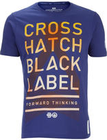 Crosshatch Men's Penn Black Label Print T-Shirt - Twilight Blue
