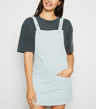 New Look Urban Bliss Light Denim Pinafore Dress