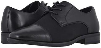 Florsheim Kids Postino Mesh Cap Toe Ox Jr. (Toddler/Little Kid/Big Kid) (Black Smooth Leather/Mesh) Boy's Shoes