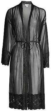 In Bloom Women's Say Yes Lace-Trim Sheer Robe