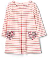 Gap Heart-pocket stripe dress