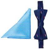 Alara Silk FDR Democratic Donkey Bow Tie & Pocket Square Set