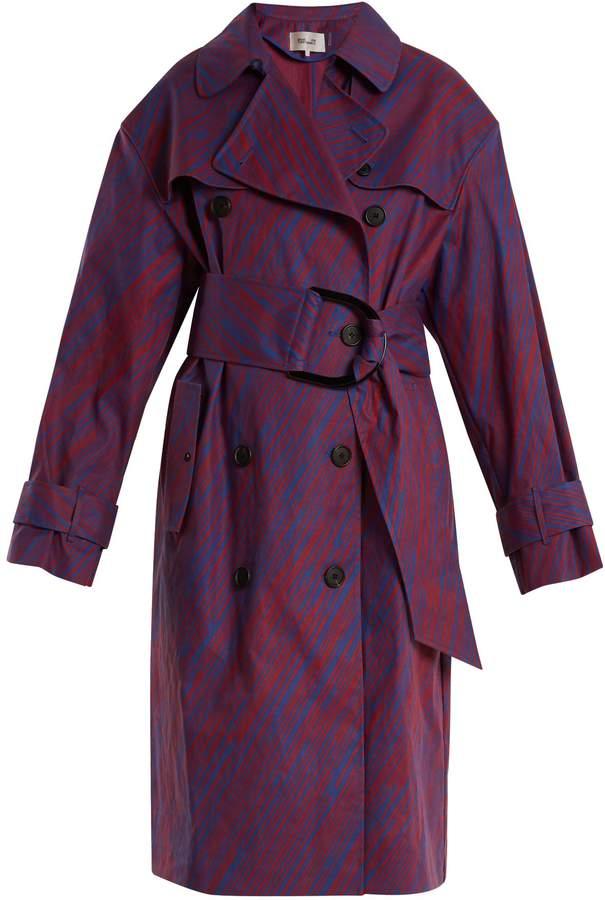 Diane von Furstenberg Visconti-print cotton-blend trench coat
