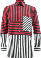 Ports 1961 colour block striped shirt