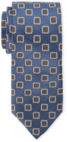 Altea Light Blue Contrast Pattern Silk Tie