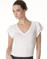 Jadian Stay V Neck Flutter Tee