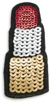 RJ Graziano Sequined Lipstick Patch Pin