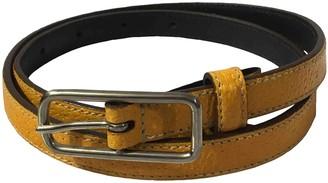 Prada Yellow Leather Belts