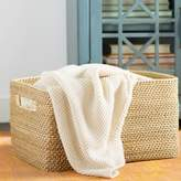 Mistana Rectangle Coastal Rattan Storage Basket