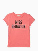 Kate Spade Girls miss behavior tee