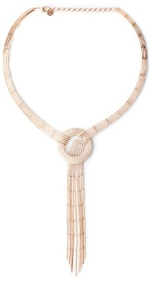 Shay Pave-whirlpool Diamond & 18kt Rose-gold Necklace - Rose Gold