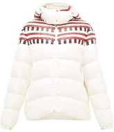 Moncler 1 Pierpaolo Piccioli - Evelyn Colour-block Down-filled Hooded Jacket - Womens - White Multi