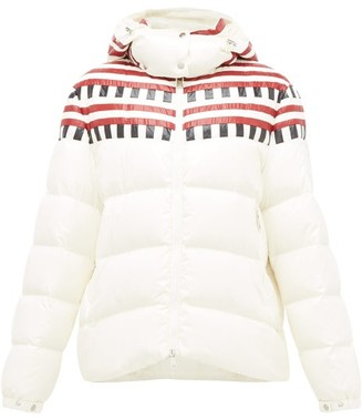1 Moncler Pierpaolo Piccioli - Evelyn Colour-block Quilted Down Hooded Jacket - White Multi