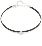 Kenneth Jay Lane Pave Trim Charm Choker Necklace