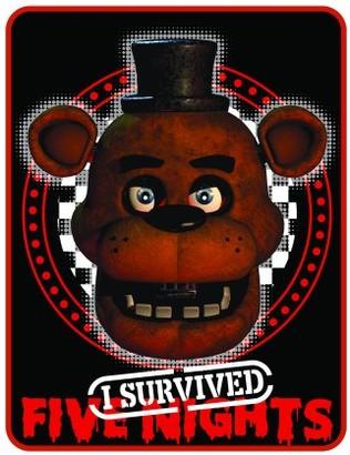 Five Nights At Freddy's Five Nights at Freddy?s Plush Throw, Kids Bedding, 46? x 60?, Black and Red, Freddy Fazbear