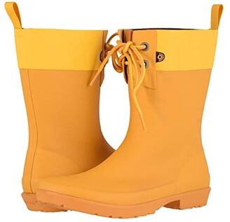 Bogs Flora 2-Eye Boot (Black) Women's Rain Boots