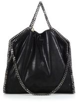 Stella McCartney Shaggy Deer Falabella Fold-Over Small Tote