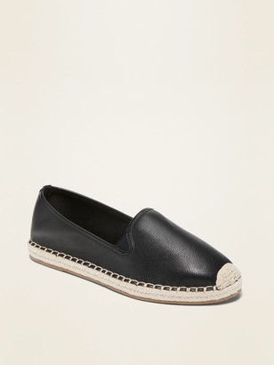 Old Navy Faux-Leather Espadrille Flats for Women