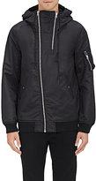 Nlst Men's Double-Zip Nylon Flight Jacket-Black Size S