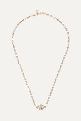 Sydney Evan Extra Large Evil Eye 14-karat Gold Diamond Necklace