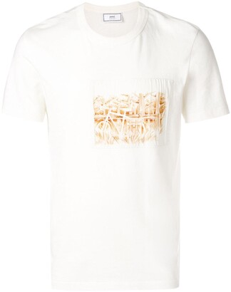 Ami Paris Printed Patch T-Shirt