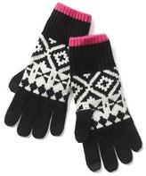 Gap Crazy fair isle merino wool blend gloves
