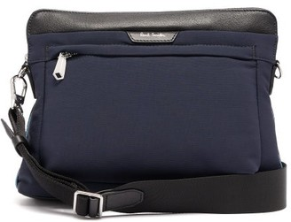 Paul Smith Leather Trimmed Cross Body Bag - Mens - Blue