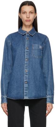 A.P.C. Blue Denim Victor Over Shirt