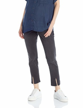 Motherhood Maternity Women's Maternity Indigo Blue Secret Fit Belly Ankle Straight Leg Denim Jean
