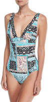 Seafolly Moroccan Moon V-Neck Maillot One-Piece Swimsuit