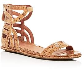 Kenneth Cole Gentle Souls By Gentle Souls Women's Larisa Glossy Cork Ankle Strap Demi Wedge Sandals