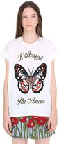 Gucci Butterfly Embroidered Jersey T-Shirt