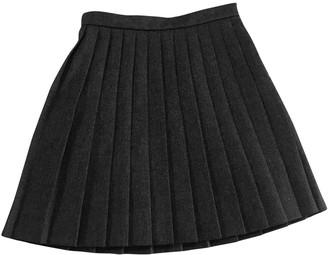 Saint Laurent Grey Wool Skirt for Women