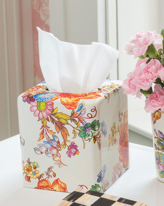 Mackenzie Childs Flower Market Boutique Tissue Box Cover
