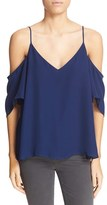 Haute Hippie Women's Embellished Cold Shoulder Silk Blouse