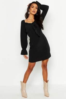 boohoo Off Shoulder Long Sleeve Gypsy Style Dress