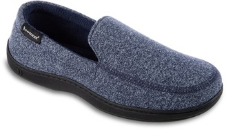 Isotoner Men's Space Dye Moccasin Slippers