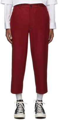 Comme des Garcons Red Extra Fine Wool Trousers