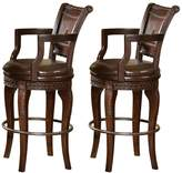 Branton Home Antoinette 2-piece Swivel Bar Chair Set