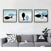 MEIZI DONG Modern Minimalist Sofa Wall Paintings Abstract Decorative Painting Fish Hotel Decorative Painting