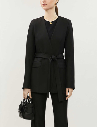 Topshop Boutique wrap-front twill blazer