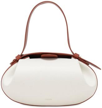 Yuzefi Loaf Bicolor Leather Top Handle Bag