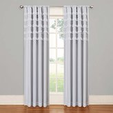 Eclipse Curtains Eclipse Kids Ruffle Batiste Blackout Window Panel, White, 50 x 84